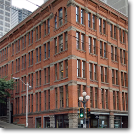 Historic Holyoke Building in downtown Seattle