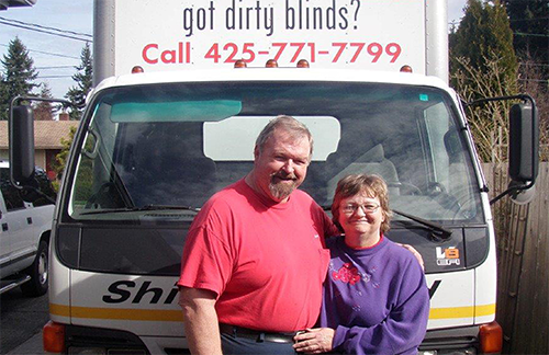 Shine A Blind America owners Craig and Elaine Lee